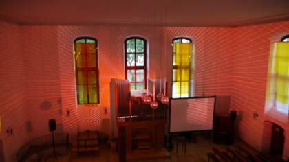 Video- and Light Installation at Kulturkirche Dresden 2011